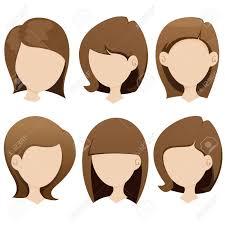 女性のヘアスタイル コレクションのイラストのイラスト素材ベクタ