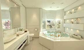Casa no condomínio colina do rio. Banheiro Da Suite Master Que Possui Banheira De Hidromassagem Bathroom Design Luxury Dream Home Design Dream Bathrooms