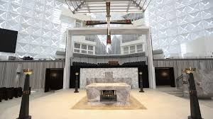 Modern Catholic Altar Designs For Home Philip Johnsons Crystal Cathedral Gets A Makeover