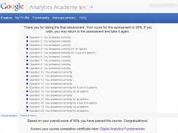 google analytics fundamentals exam