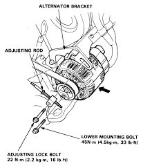how do i take the alternator out step by step in my 92 acura vigor graphic