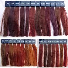 Wella Vibrant Reds Colour Chart