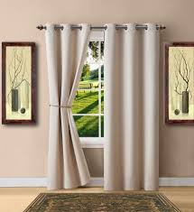 Warm Home Designs Warm Home Designs Ivory Blackout Curtain Panels Pairs