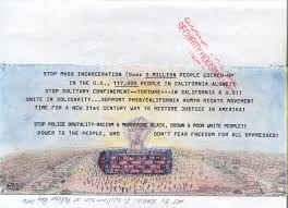 pelican bay state prison prisoner human rights movement artwork by baridi williamson entitled stop mass incarceration solitary confinement police brutality