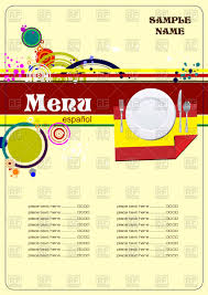 free food menu templates restaurant menu template spain cuisine vector illustration of food