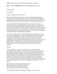 ode to a nightingale essay b j pinchbecks homework help line