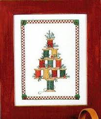 Christmas Tree Cross Stitch Chart Christmas Spool Tree Cross Stitch Chart