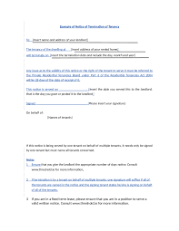 Lease Termination Letter Sample Template Templates Free Example
