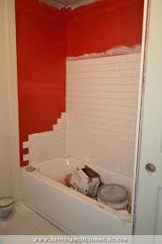 fiberglass tub and surround new master bathroom tile the wood grain cottage diffe kinds of tiles fiberglass tub