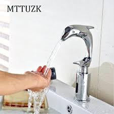 motion sensor faucet. Stunning Sensor Faucet Bathroom Brass Dolphin Deck Mounted Automatic Water Saving Basin . Motion