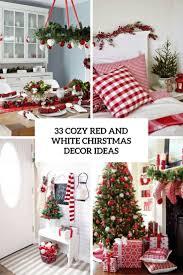 33 Gemütliche Weihnachtsdekoration In Rot Und Weiß