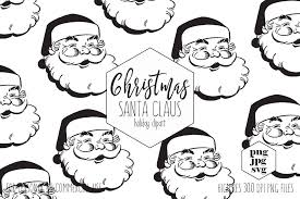 vintage santa claus face clipart. Plain Clipart CHRISTMAS SANTA Clipart For Commercial Use Santa Claus SVG Clip Art Vintage  Clause Face Cut Out Fun Holiday Digital Vector Graphics And
