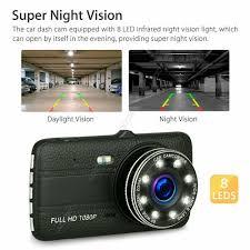 Camera Hành Trình Ô tô trước sau full HD tích hợp 8 Đèn LED - 1080P - Camera  hành trình - Action camera và phụ kiện