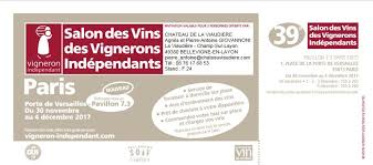 du 30 novembre au 04 décembre 2017 salon des vins des vignerons indépendants de paris