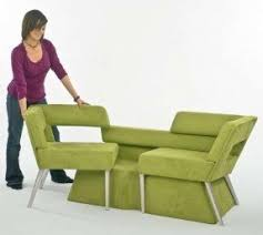 Angled couch