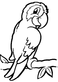 Small Picture ParrotPrintableColoringPages back print this Parrot color