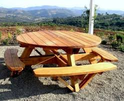 here are free woodworking plans to build an octagon shaped picnic field twenty four hour period put off where can i find plans to build a round picnic table