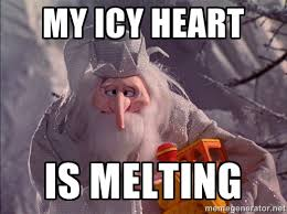 My icy heart is melting - Winter Warlock Icy Heart | Meme Generator via Relatably.com