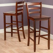 Craftsman Stool And Table Set Amazoncom Winsome 29 Inch Bar Ladder Back Stool Set Of 2