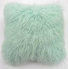 mongolian fur pillow. Interesting Mongolian TibetanMongolian Lamb Fur Pillow Cover  Mint Green 18 To Mongolian N