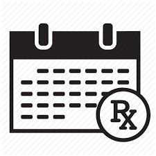 Appointment Calander Appointment Calendar Medical Monthly Prescription Rx Schedule Icon