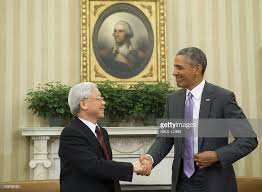 oval office july 2015. US President Barack Obama And Vietnamese General Secretary Nguyen Phu Trong  Shake Hands During A Meeting Oval Office July 2015 O