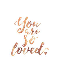 Gold Quotes Inspiration Rose Gold Foil You Are So Loved Quote Art Print By IWatchThemGrow