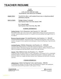 Types Of Resumes Samples And Elementary Education Resume Examples
