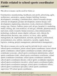 Sample Sports Resume Top 8 School Sports Coordinator Resume Samples