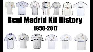 Real Madrid CF Kits Evolution Throughout History | 1950-2017 ...