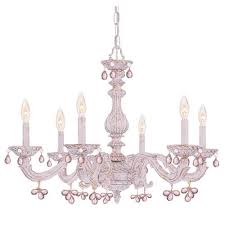 crystorama lighting group abbie antique white six light murano crystal chandelier