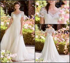 Permalink to View Short Sleeve A Line Wedding Dress  Background