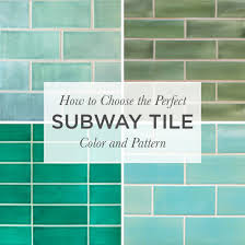 Kiln Ceramic 2x8 Subway Tile Five Color Layout
