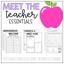 Meet The Teacher Sign In Sheet Welcome Freebie Meeting Free ...