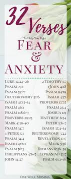 32 Verses To Fight Fear And Anxiety One Well Momma