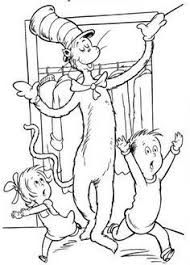 You need to explain them do not go out the lines. Top 20 Free Printable Cat In The Hat Coloring Pages Online Dr Seuss Coloring Pages Dr Seuss Drawings Cool Coloring Pages