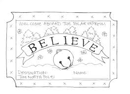 Polar Express Coloring Pages Ticket Coloringstar