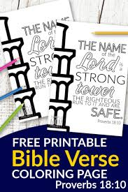 Facebook is showing information to help you better understand the purpose of a page. Free Printable Proverbs 18 10 Bible Verse Coloring Page