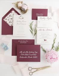 Rose Gold Foil Floral Wedding Invitation