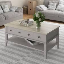 ameriwood home newport coffee table light gray light brown com