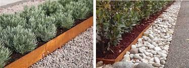 corten garden edging simple to