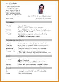 7 Cv English Example Doc Resume Setups