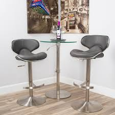 Ecco Brushed Stainless Steel Adjustable Height Swivel Bar Stool - Free  Shipping Today - Overstock.com - 13443543
