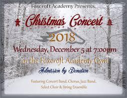 Christmas Concert Poster Christmas Concert 2018 Foxcroft Academy Music