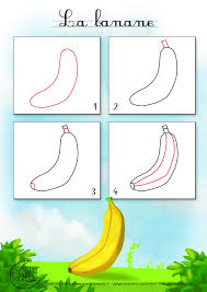 Apprendre Dessiner Fruit Banane Jpg 1400 1980 How To Draw