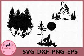 Free svg designs   download free svg files for your own. Forest Svg Wolf Svg Woodland Svg Mountains Svg Forest 811318 Cut Files Design Bundles