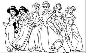 Disney Princess Belle Coloring Pages Unique Disney Princesses