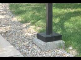 how to make a concrete base for a lamppost youtube check lighting ideas won39t