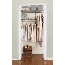 rubbermaid fasttrack 3 6 ft closet kit satin nickel