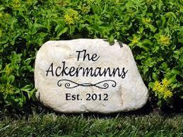 engraved garden stones. Engraved River Rock Garden Stone 10 - 12 Inch Stones R